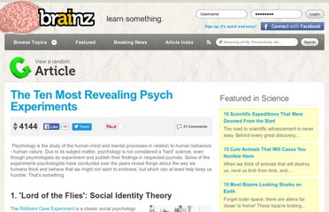 http://brainz.org/ten-most-revealing-psych-experiments/