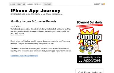 http://www.iphoneappjourney.com/income-reports/
