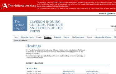 http://www.levesoninquiry.org.uk/hearings/