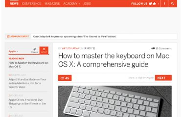http://thenextweb.com/apple/2011/11/14/how-to-master-the-keyboard-on-mac-os-x-a-comprehensive-guide/