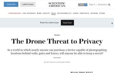 http://www.scientificamerican.com/article.cfm?id=the-drone-threat-to-privacy