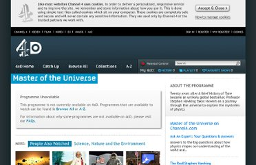 http://www.channel4.com/programmes/master-of-the-universe/4od#2918546