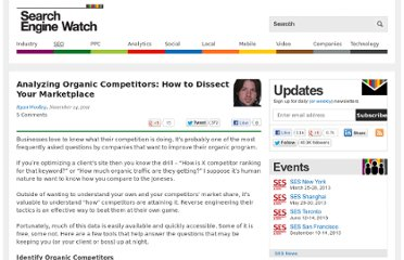 http://searchenginewatch.com/article/2124619/Analyzing-Organic-Competitors-How-to-Dissect-Your-Marketplace