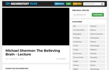 http://topdocumentaryfilms.com/michael-shermer-the-believing-brain/