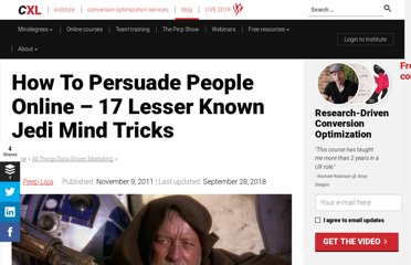 http://conversionxl.com/17-lesser-known-ways-to-persuade-people/