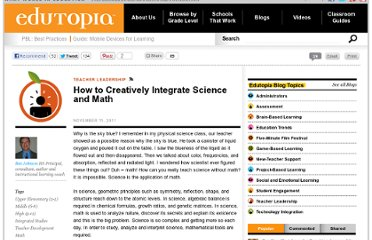 http://www.edutopia.org/blog/integrating-math-science-creatively-ben-johnson