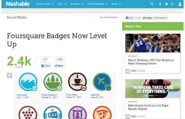 http://mashable.com/2011/11/14/foursquare-badges-now-level-up/
