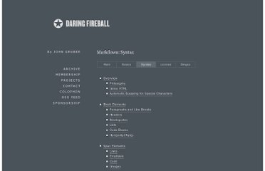 http://daringfireball.net/projects/markdown/syntax#p