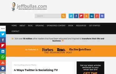 http://www.jeffbullas.com/2011/11/15/4-ways-twitter-is-socializing-tv/