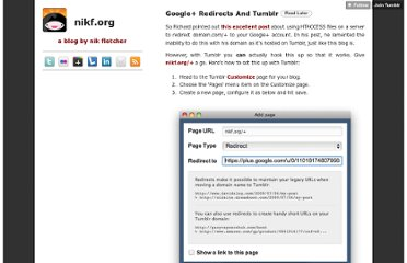 http://nikf.org/post/7538019123/google-redirects-and-tumblr