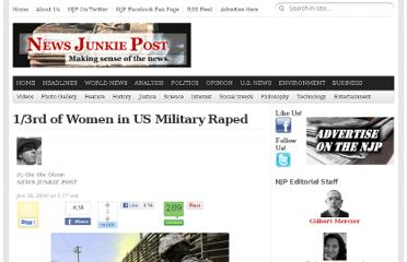 http://newsjunkiepost.com/2010/01/26/13rd-of-women-in-us-military-raped/
