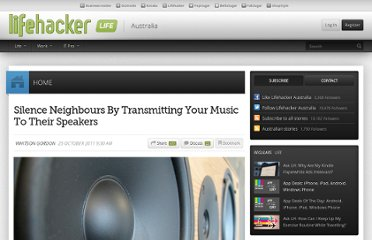 http://www.lifehacker.com.au/2011/10/silence-neighbours-by-transmitting-your-music-to-their-speakers/