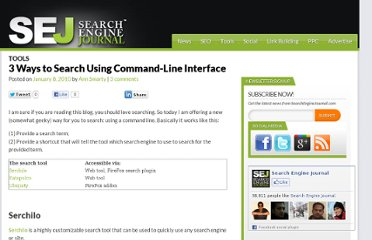 http://www.searchenginejournal.com/3-ways-to-search-using-command-line-interface/15892/