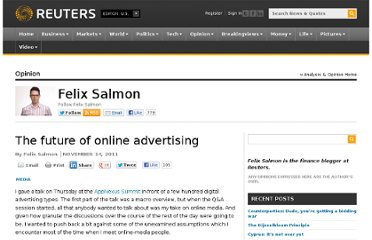 http://blogs.reuters.com/felix-salmon/2011/11/14/the-future-of-online-advertising/