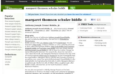 http://www.reference.com/browse/margaret+thomson+schulze+biddle