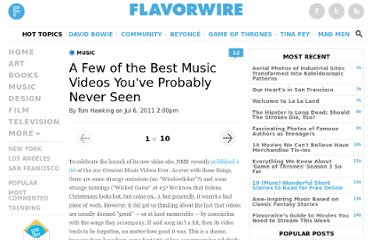 http://flavorwire.com/192383/10-of-the-best-music-videos-youve-probably-never-seen
