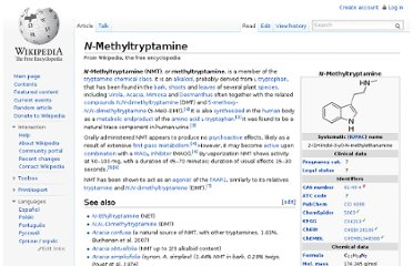 http://en.wikipedia.org/wiki/N-Methyltryptamine