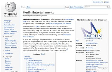 http://en.wikipedia.org/wiki/Merlin_Entertainments