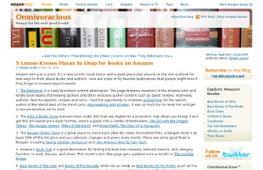 http://www.omnivoracious.com/2011/05/5-lesser-known-places-to-shop-for-books-on-amazon.html