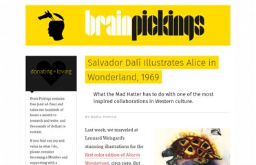 http://www.brainpickings.org/index.php/2011/11/15/salvador-dali-alice-in-wonderland-1969/