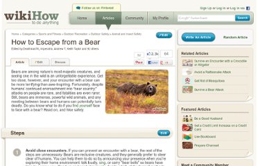 http://www.wikihow.com/Escape-from-a-Bear