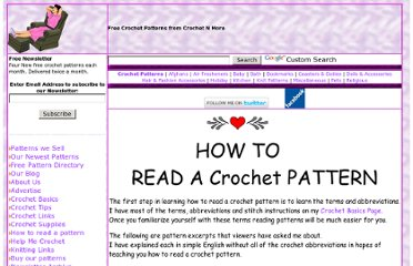 How To Read A Knit Pattern : Knitting Nana Pearltrees