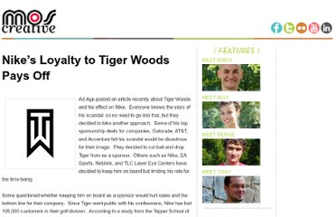 http://blog.moscreative.com/2010/12/03/nikes-loyalty-to-tiger-woods-pays-off/