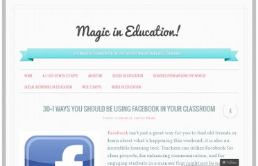 http://magicineducation.wordpress.com/2011/03/19/301-ways-you-should-be-using-facebook-in-your-classroom/