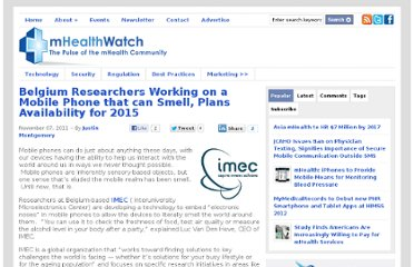 http://mhealthwatch.com/belgium-researchers-working-on-a-mobile-phone-that-can-smell-plans-availability-for-2015-18132/#more-18132
