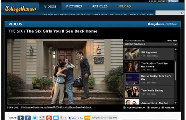http://www.collegehumor.com/video/6647539/the-six-girls-youll-see-back-home