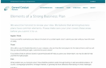 http://www.generalcatalyst.com/elements-strong-business-plan