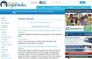 http://www.webenglishteacher.com/graphicnovels.html