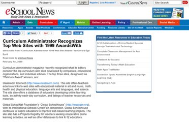 http://www.eschoolnews.com/2000/02/01/curriculum-administrator-recognizes-top-web-sites-with-1999-awardswith/