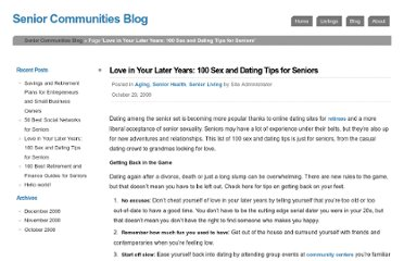 http://www.seniorhome.net/blog/2008/love-in-your-later-years-100-sex-and-dating-tips-for-seniors/