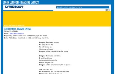 http://www.lyrics007.com/John%20Lennon%20Lyrics/Imagine%20Lyrics.html