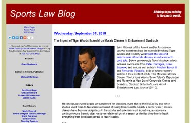http://sports-law.blogspot.com/2010/09/impact-of-tiger-woods-scandal-on-morals.html