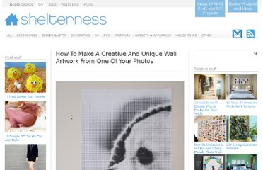 http://www.shelterness.com/how-to-make-a-creative-and-unique-wall-art-from-one-of-your-photos/