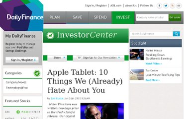 http://www.dailyfinance.com/story/company-news/apple-itablet-top-10-reasons-not-to-buy-one/19330378/