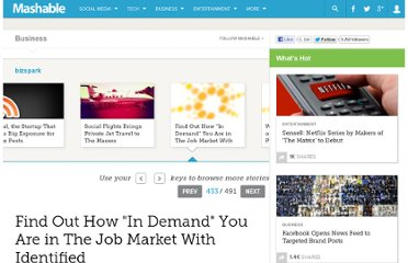 http://mashable.com/2011/11/16/find-out-how-in-demand-you-are-in-the-job-market-with-identified/