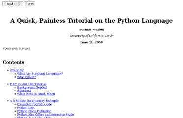 http://heather.cs.ucdavis.edu/~matloff/Python/PythonIntro.html