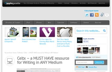 http://www.applegazette.com/software/celtx-a-must-have-resource-for-writing-in-any-medium/