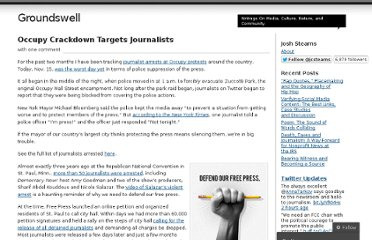 http://stearns.wordpress.com/2011/11/16/occupy-crackdown-targets-journalists/