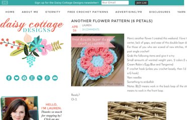 http://daisycottagedesigns.blogspot.com/2011/04/another-flower-pattern-6-petals.html