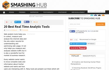 http://smashinghub.com/20-best-real-time-analytic-tools.htm