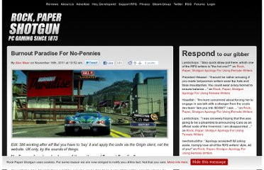 http://www.rockpapershotgun.com/2011/11/16/burnout-paradise-for-no-pennies/