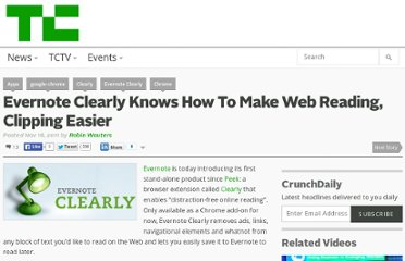 http://techcrunch.com/2011/11/16/evernote-clearly-knows-how-to-make-web-reading-clipping-easier/