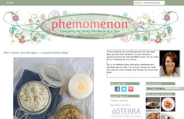 http://www.phemomenon.com/home-spa-recipes/