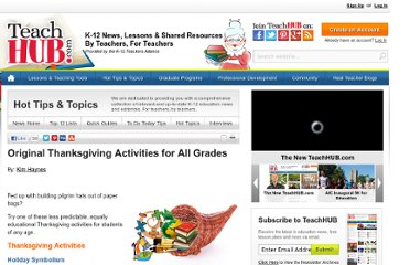 http://www.teachhub.com/original-thanksgiving-activities-all-grades