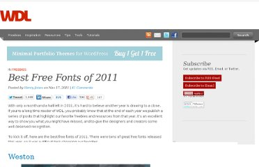 http://webdesignledger.com/freebies/best-free-fonts-of-2011