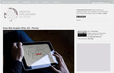 http://www.creativeapplications.net/openframeworks/sonic-wire-sculptor-ipad-of-preview/